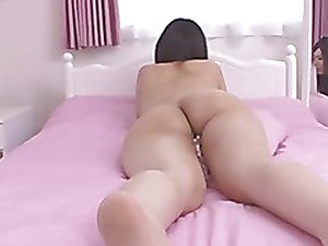 censored asian ass massage with an increment of pillowhumping