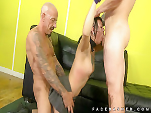 Amelia Dire takes on two extreme cocks