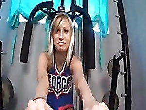 Well done cheerleader footjob