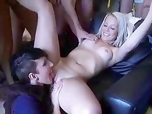 Blonde Teen Gets Gangbang for A Baby