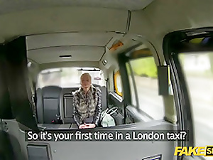 British hottie gets fucked hardcore median a taxi-cub hansom cab