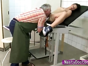 Petite Petra Rides Dirty Elderly Doc