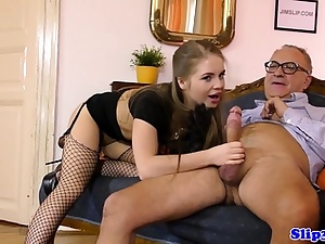 Glamcore european nubile ravaged after cockblowing