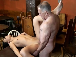 DADDY4K. Older and youthful lovers play when muscly boy...