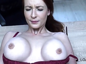 LOAN4K. Buxom sandy-haired pays with fuck-a-thon for development of her..
