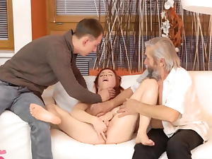 Gross boy pokes youthful female and hot rough intercourse being mean