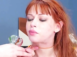 Strap on dildo fetish hard-core And he made her lick his backside and