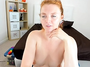 Sexy nubile black solo toy getting off