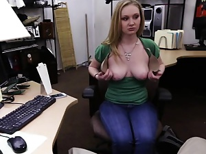 Blonde unshaded sells xbox together with gets fucked